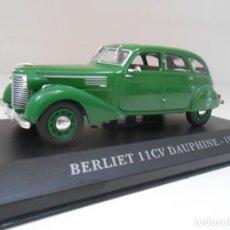 Coches a escala: COCHE BERLIET 11CV DAUPHINE 1/43 1:43 METAL MODEL CAR MINIATURE ALFREEDOM 1939. Lote 260869470