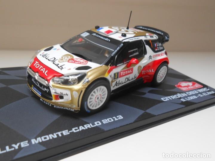COCHE CITROEN DS3 WRC RALLY MONTECARLO IXO CAR RALLYE LOEB ELENA 1:43 1/43 (Juguetes - Coches a Escala 1:43 Otras Marcas)