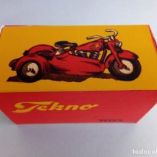 Coches a escala: TEKNO DINAMARCA 762 MOTORCYCLE WITH SIDECAR CAJA REPRO. Lote 214829373