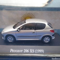 Coches a escala: PEUGEOT 206 XS (1999),COLECCION ARGENTINA AÑOS 80/90, SALVAT , ALTAYA 1/43.. Lote 215283647