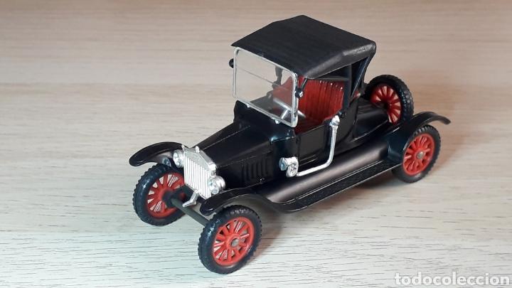FORD T *NEGRO* Nº 6, PLÁSTICO ESC. 1/43, ANGUPLAS SUPER MINI-CARS MADE IN SPAIN, ORIGINAL AÑO 1963. (Juguetes - Coches a Escala 1:43 Otras Marcas)