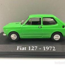 Coches a escala: COCHE FIAT 127- 1972 CON URNA DE METACRILATO ESCALA 1/43.. Lote 218228473