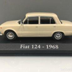 Coches a escala: COCHE FIAT 124- 1968 CON URNA DE METACRILATO ESCALA 1/43.. Lote 218228570