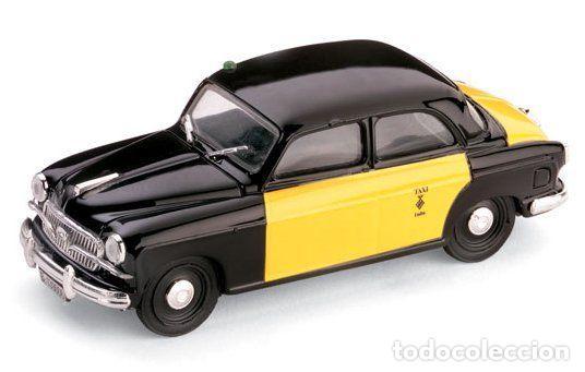 FIAT 1400B TAXI DE BARCELONA 1956 1:43 BRUMM (Juguetes - Coches a Escala 1:43 Otras Marcas)