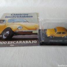 Coches a escala: VW 1300 ESCARABAJO 1970 DE CLASICOS INOLVIDABLES RBA CON FASCICULO. Lote 218914406
