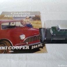 Coches a escala: MINI COOPER S..1967 DE CLASICOS INOLVIDABLES RBA CON FASCICULO. Lote 218914962