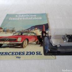 Coches a escala: MERCEDES 230SL..1963 DE CLASICOS INOLVIDABLES RBA CON FASCICULO. Lote 218916833