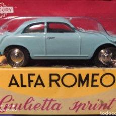 Coches a escala: MERCURY MODELO ALFA ROMEO GIULIETTA SPRINT, HACHETTE. NUEVO Y EN BLISTER. 1/43. Lote 219328222