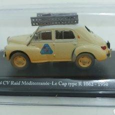 Coches a escala: RENAULT 4CV RALLY MEDITERRÁNEO DE 1950.. Lote 219352440