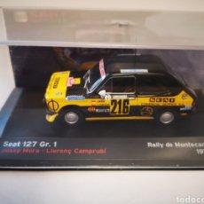 Coches a escala: SEAT 127 GR1 RALLY MONTECARLO 1978. JOSEP MORA LLORENC CAMPRUBI. ESCALA 1/43. Lote 219540366