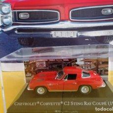 Coches a escala: CHEVROLET CORVETTE Z06 STING RAY 1963 ESCALA 1/43 ALTAYA Nº4 COLECCIÓN AMERICAN CARS.. Lote 220840845