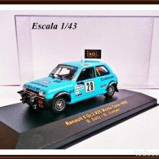 Coches a escala: IXO RAC 025 AÑO 2002 RENAULT 5 ALPINE GR 2 BRUNO SABY / MONTE CARLO 1979. Lote 93630920