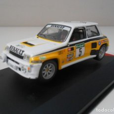 Carros em escala: R2 COCHE RALLY RENAULT 5 TURBO CARLOS SAINZ RALLYE EL CORTE INGLES 1985 RALLY 1/43 1:43 MODEL CAR. Lote 221424290