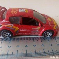 Coches a escala: PEUGEOT 206 WRC ROJO GUISVAL 1/43 ESPAÑA PUBLICIDAD CLARION COCHE NO MAJORETTE NO MATCHBOX. Lote 221516316