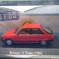 Coches a escala: RENAULT 11 TURBO (1986),COLECCION ARGENTINA AÑOS 80/90, SALVAT , ALTAYA 1/43.. Lote 263118195