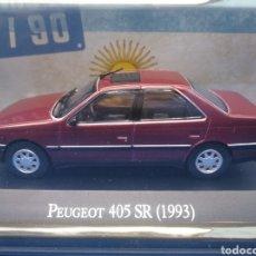 Coches a escala: PEUGEOT 405 SR (1993),COLECCION ARGENTINA AÑOS 80/90, SALVAT , ALTAYA 1/43.. Lote 236586250