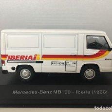 Coches a escala: FURGONETA MERCEDES MB-100 IBERIA 1990. ESCALA 1/43. Lote 222847335
