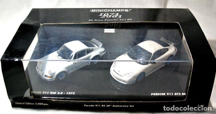 Coches a escala: SET COCHES PORSCHE 911 RSR 2.8 1973 Y PORSCHE 911 GT3 RS 2003, 30 ANIVERSARIO, ED. LIMITADA, NUEVO * - Foto 3 - 143693006