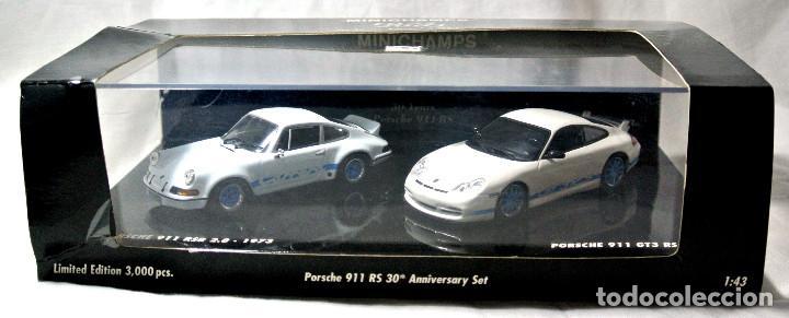 Coches a escala: SET COCHES PORSCHE 911 RSR 2.8 1973 Y PORSCHE 911 GT3 RS 2003, 30 ANIVERSARIO, ED. LIMITADA, NUEVO * - Foto 4 - 143693006