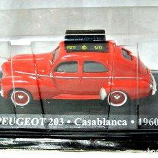 Coches a escala: COCHE TAXI PEUGEOT 203 TAXI CASABLANCA 1960 ,ALTAYA, 1/43 1:43 ,NUEVO EMPAQUE SELLADO *. Lote 127248663