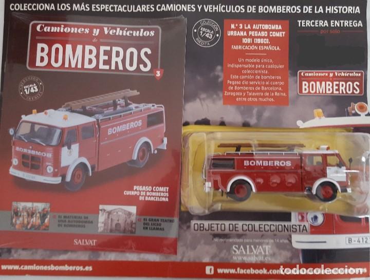 Coches a escala: CAMIÓN DE BOMBEROS PEGASO COMET CUERPO DE BOMBEROS DE BARCELONA ESCALA 1:43, NUEVO CON FASCICULO - Foto 2 - 232597765