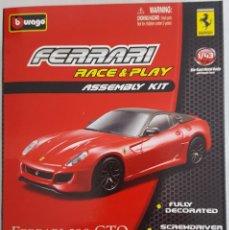 Coches a escala: BURAGO KIT DE MONTAGE PARA EL FERRARI 599 GTO ESCALA 1:43. Lote 232725605