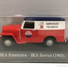 Coches a escala: FURGONETA IKA ESTANCIERA- IKA SERVICE 1965 CON URNA DE METACRILATO. ESCALA 1/43. Lote 234585690
