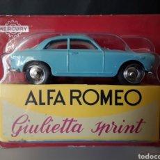 Carros em escala: MERCURY MODELO ALFA ROMEO GIULIETTA SPRINT HACHETTE 1:43 NUEVO Y EN BLISTER DIE CAST. Lote 234772645