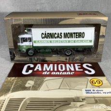 Voitures à l'échelle: CAMIONES DE ANTAÑO - CÁRNICAS MONTEIRO - ALTAYA - DAF A Z600. Lote 234967410