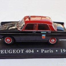 Coches a escala: COCHE E 1:43. PEUGEOT 404, TAXI DE PARIS 1962. Lote 236385935