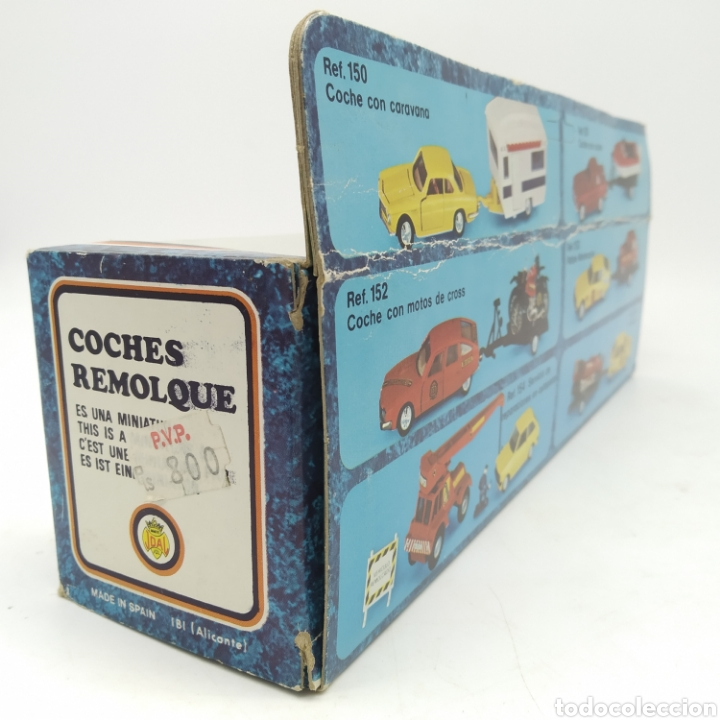 Coches a escala: MERCEDES BENZ 350 LS CON CANOA de MINIATURAS JOAL nº 151 escala 1/43 serie Coches Remolque, IBI - Foto 5 - 238676585