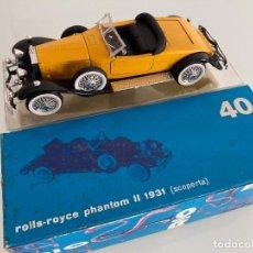 Coches a escala: E1/43, ROLLS-ROYCE PHANTOM II 1931, CABRIOLET , RIO-40. Lote 240652465