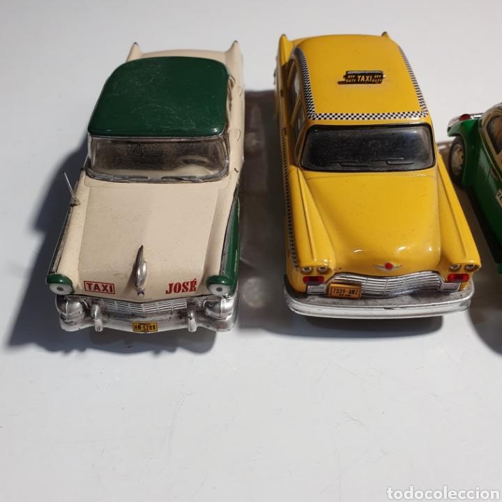 Coches a escala: Lote De 7 Taxis, 6 Escala 1.43, y 1 Escala 1.40, Los Fotografiados. - Foto 3 - 241454055