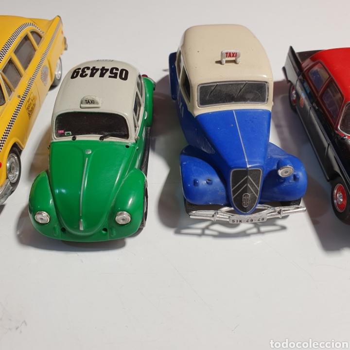 Coches a escala: Lote De 7 Taxis, 6 Escala 1.43, y 1 Escala 1.40, Los Fotografiados. - Foto 4 - 241454055