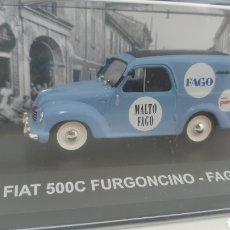 Coches a escala: FURGONETA FIAT 500C DE 1950.. Lote 242139115