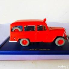 Auto in scala: TINTIN - Nº57 LA WILLIS-OVERLAND JEEP STATION WAGON 1950 DES POMPIERS DE L'AFFAIRE TOURNESOL. Lote 243357565