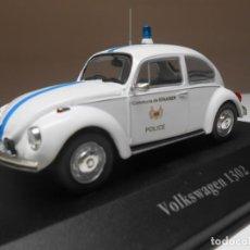 Coches a escala: COCHE POLICIA VOLKSWAGEN 1302 POLICE 1/43 1:43 ATLAS CAR VW BEETLE ESCARABAJO. Lote 293829288