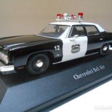 Coches a escala: COCHE POLICIA CHEVROLET BEL AIR USA POLICE CAR 1/43 1:43 MODEL DIESCAST ALFREEDOM. Lote 243867905