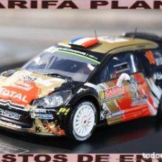 Coches a escala: CITROEN DS3 WRC 2015 RALLY MONTECARLO CHARDONNET ESCALA 1:43 DE DIECAST CLUB EN CAJA. Lote 246285755