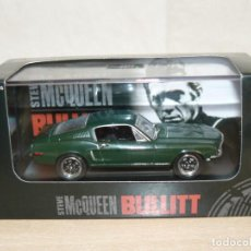 Coches a escala: STEVE MCQUEEN BULLIT 1968 FORD MUSTANG GT 1:43 YAT MING SIGNATURE 43207 DIE CAST ALFREEDOM. Lote 253480500
