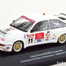 Auto in scala: COCHE FORD SIERRA RS500 COSWORTH 1990 BTCC CHAMPION RALLY MODEL CAR 1/43 1:43 GRAVETT. Lote 253738355