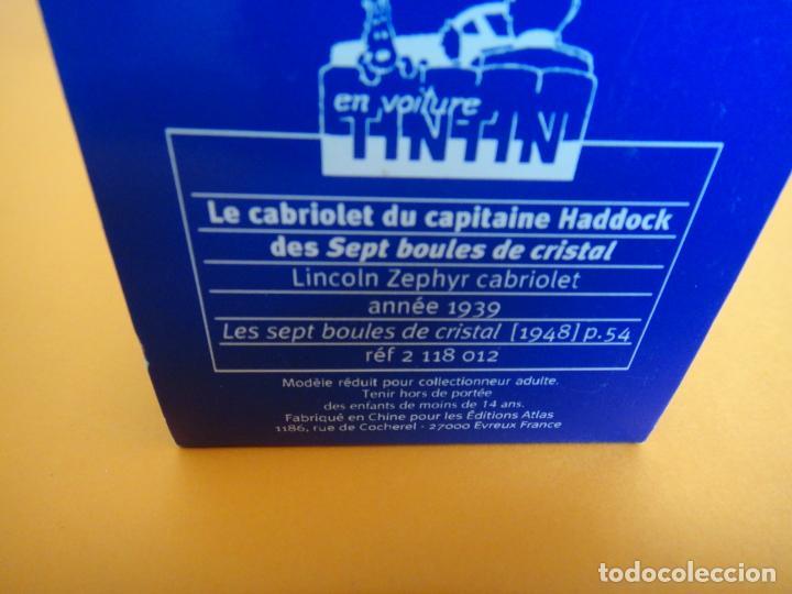 Coches a escala: COCHE TINTIN ESCALA 1:43 - EL LINCOLN ZEPHIR Nº 12 - LAS 7 BOLAS DE CRISTAL - MOULINSART 2004 - Foto 4 - 254528075