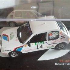 Auto in scala: PEUGEOT 205 GTI 1.9. ROLAND HOLKE 1.988. ESCALA 1:43. Lote 255571750