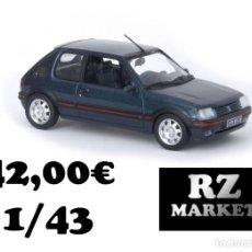 Coches a escala: PEUGEOT 205 GTI 1992. Lote 261280935