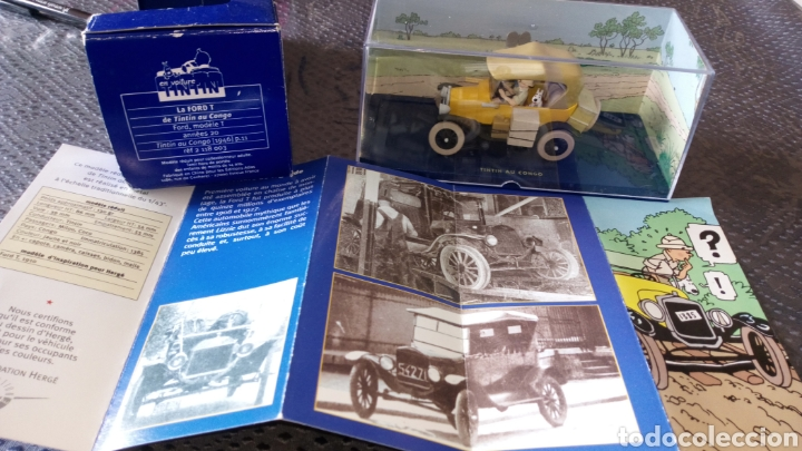 Coches a escala: Coche tintin escala 1:43 Ford modelo t tintin en el Congo se envía lo q se ve en la foto - Foto 2 - 261679070