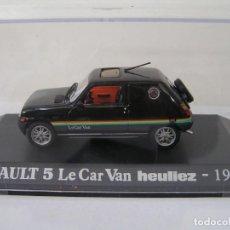 Coches a escala: OFERTA MAQUETA COCHE: RENAULT 5 TURBO LE CAR VAN HEULIEZ (1979) A ESCALA 1/43 . NUEVO CON URNA. Lote 278370288
