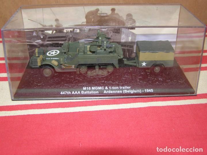 Coches a escala: Colección de vehículos militares Ech 1/43: M16 MGMC Remolque de 1 tonelada (Ardenas Bélgica 1945) - Foto 4 - 287756628
