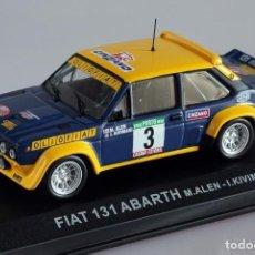 Coches a escala: FIAT 131 ABARTH RALLY PORTUGAL 1977 MINIATURA 1:43 NOVA. Lote 289005598