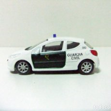 Coches a escala: PEUGEOT 207 GUARDIA CIVIL MONDO MOTORS ESCALA 1:43 COCHE POLICÍA ESPAÑA SPAIN POLICE TOY CAR. Lote 289919478