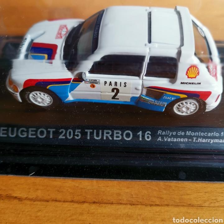 Coches a escala: Coche de metal escala 1/43 Peugeot 205 Turbo 16 Rally de Montecarlo 1985. A. Vatanen - Foto 2 - 293631608